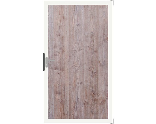 Portail à un vantail GroJa Belfort 100x180 cm aspect bois