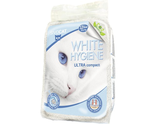 Litière pour chats SIVOCAT White Hygiène ultra12l