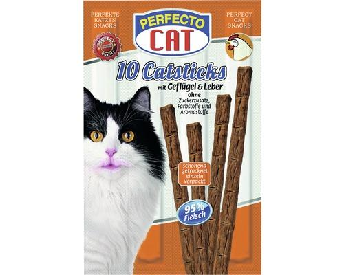 Friandises pour chats PERFECTO CAT Catsticks Poulet&Foie10morceaux