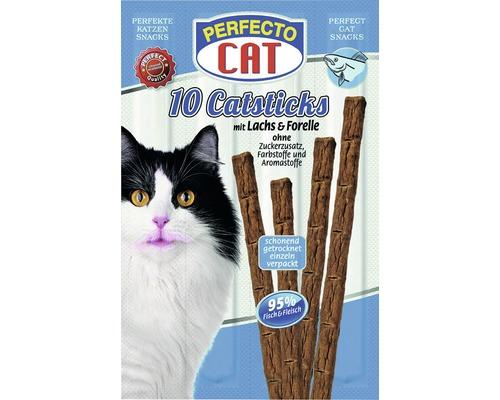 Friandises pour chats PERFECTO CAT Catsticks Saumon&Truite10morceaux