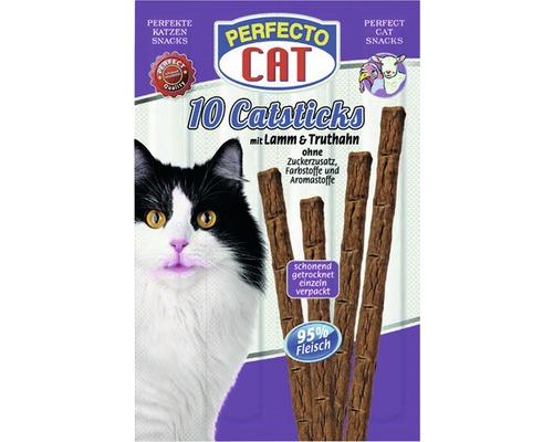 Friandises pour chats PERFECTO CAT Catsticks Agneau&Dinde10morceaux
