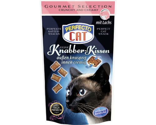 Friandises pour chats PERFECTO CAT Coussin croquant Saumon50g