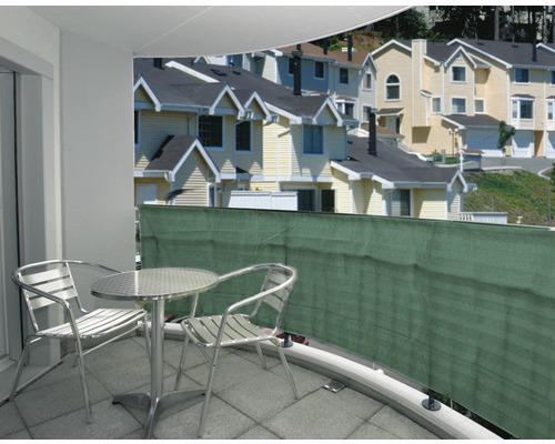 Brise vue toile 2500 x 150 cm, vert foncé