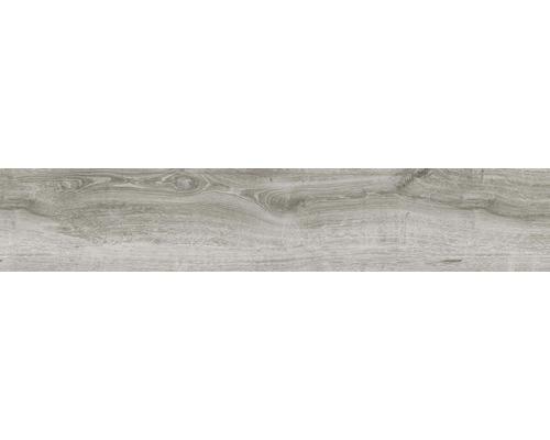 Feinsteinzeug Wand- und Bodenfliese Limewood grau 23,3 x 120 cm
