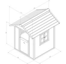 Cabane de jeux Sunny Lodge bois bleu-blanc-thumb-1