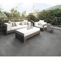 Dalles pour terrasses Flairstone grès-cérame fin Modern Dark 90x90x2cm bords rectifiés