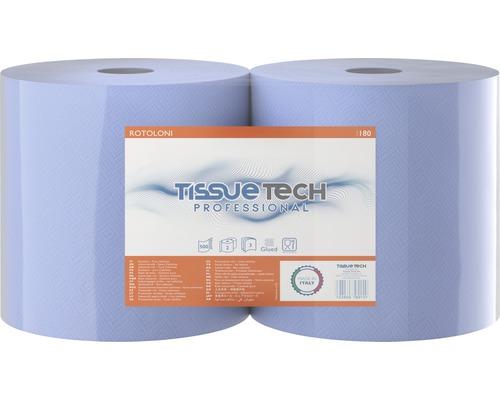 Rouleau essuie-mains jumbo bleu, 2rouleaux, triple épaisseur