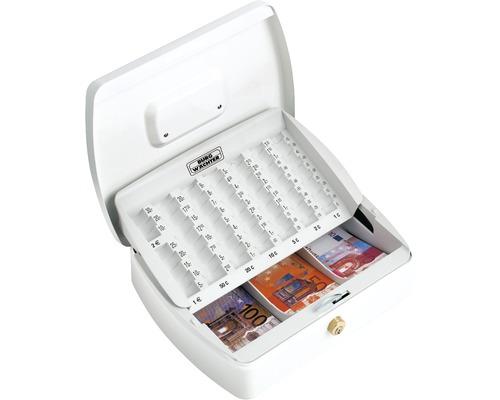 Caisse à monnaie Burg-Wächter ZK 2257 EURO blanc