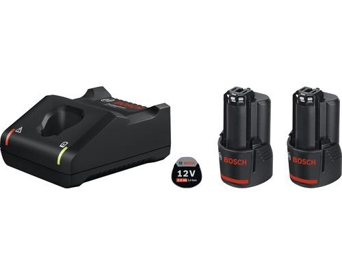 Kit de démarrage Bosch 12V, batteries 2,0Ah Li + chargeur