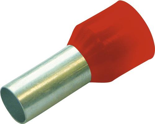 Embouts de câbles isolés Haupa 270822 10mm²/12mm rouge 100 pièces