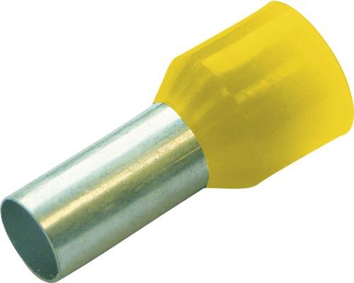 Embouts de câbles isolés Haupa 270818 6mm²/12mm jaune 100 pièces