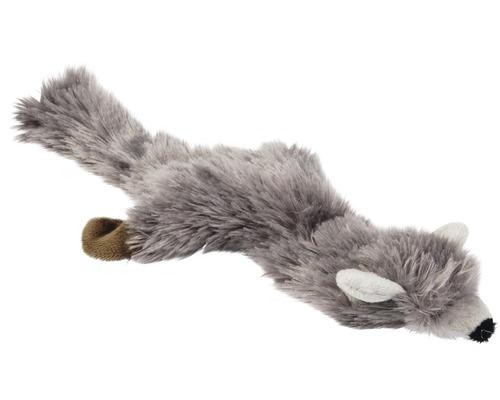 Jouet pour chien Karlie renard en peluche Flatino 30cm gris
