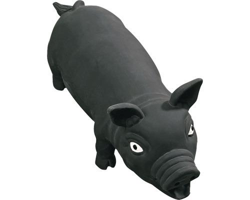 Jouet pour chien Karlie cochon en latex 33cm noir