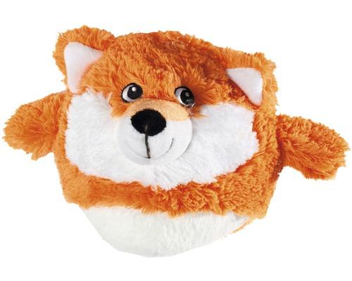 Jouet pour chien Karlie renard Fossy en peluche 14cm orange-blanc