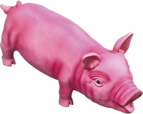 Jouet pour chien Karlie cochon en latex 33cm rose vif