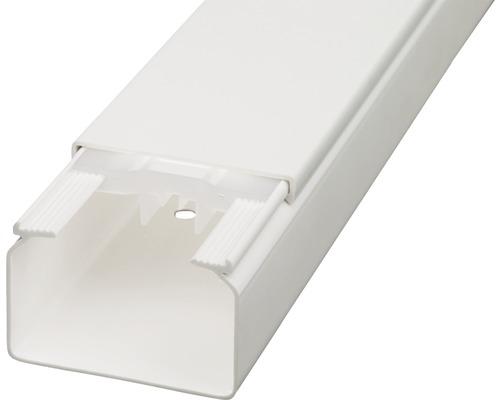 Conduite de câbles l60/h40mm blanc pur 2m-0
