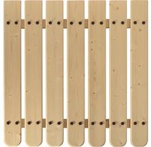 Planches de balcon/clôture épicéa 950x115x18 mm 3 pièces-thumb-4