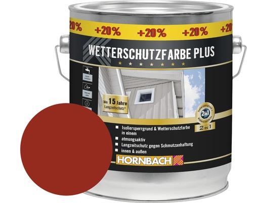 Peinture de protection du bois contre les intempéries Plus rouge Suède 3l (20% gratuit)
