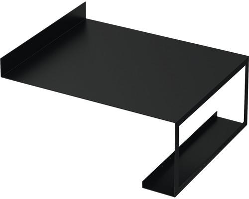 Tablette en métal porte-accessoires Qube 45 noir