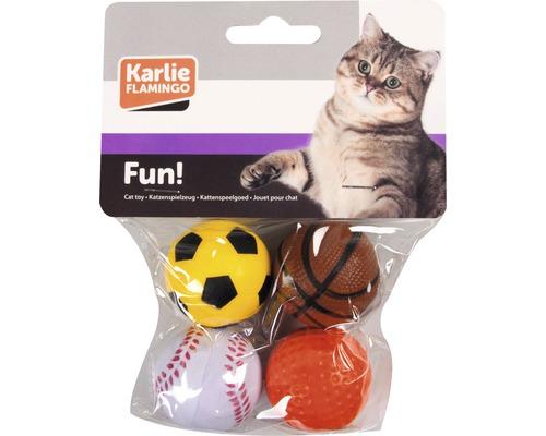 Katzenspielzeug Karlie Moosgummibälle Ø 4 cm 4 Stück