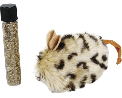 Katzenspielzeug Karlie Plüschmaus mit Catnip 10 cm