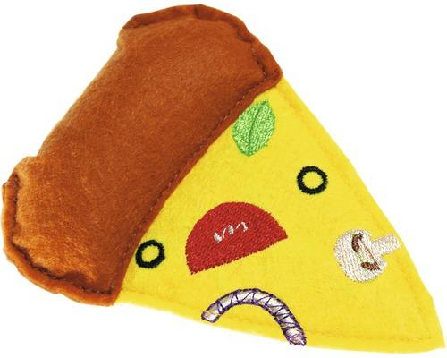 Katzenspielzeug Karlie Textil Pizza 10,5 cm gelb