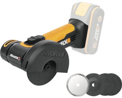 Mini ponceuse d'angle sans fil Worx 20V WX801.9, sans batterie ni chargeur