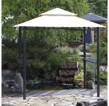Pavillon de barbecue 246x154cm polyester beige-thumb-1