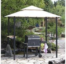 Pavillon de barbecue 246x154cm polyester beige-thumb-2
