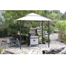 Pavillon de barbecue 246x154cm polyester beige-thumb-3