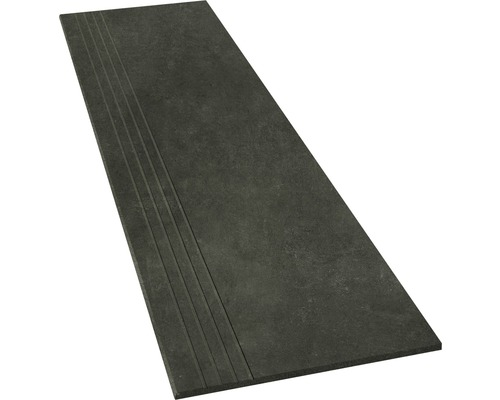 Marche en grès cérame fin Hometec black lappato 30x120cm