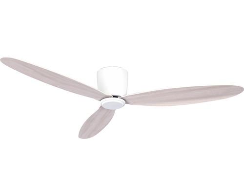 Ventilateur de plafond blanc bois gris blanc Airfusion Radar ø 132 cm avec télécommande, fonction été + hiver