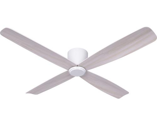 Ventilateur de plafond blanc chêne gris blanc Fraser ø 132 cm avec télécommande, fonction été + hiver