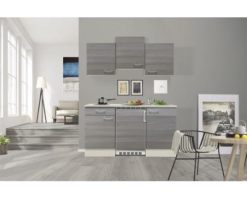 Kitchenette Pinea 150 cm avec réfrigérateur et plaques de cuisson