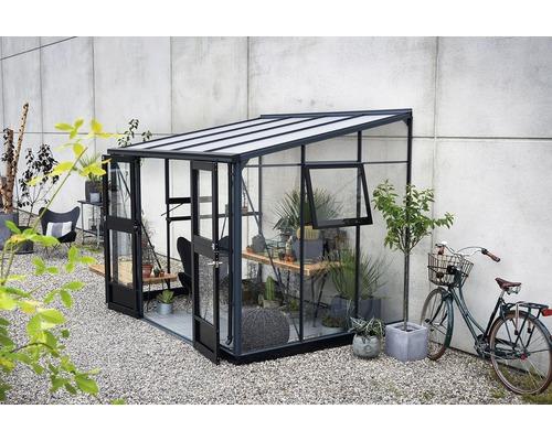 Serre JULIANA Veranda 6,6 m² verre de sécurité 3 mm 221x296 cm anthracite