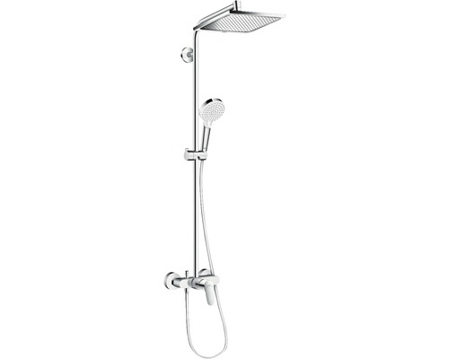 Colonne de douche avec mitigeur hansgrohe Crometta E Showerpipe 240 1jet chrome 27284000