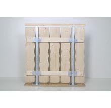 Pilier carré galvanisé à chaud montage au sol avec supports-thumb-1