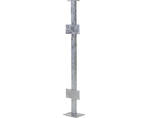 Pilier carré galvanisé à chaud montage au sol avec supports-0