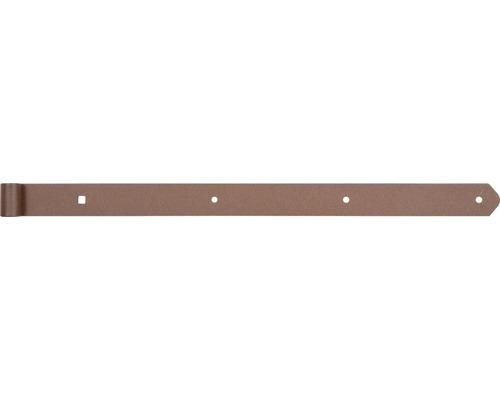 Paumelle de volet Duravis forme droite 600 mm Ø 13 mm brun rouille-0