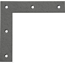 Équerre d''angle Duravis 120x120x20 mm diamant noir 1 unité-thumb-0