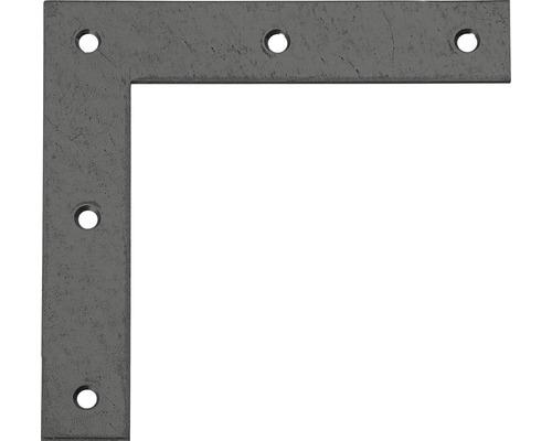 Équerre d''angle Duravis 120x120x20 mm diamant noir 1 unité-0
