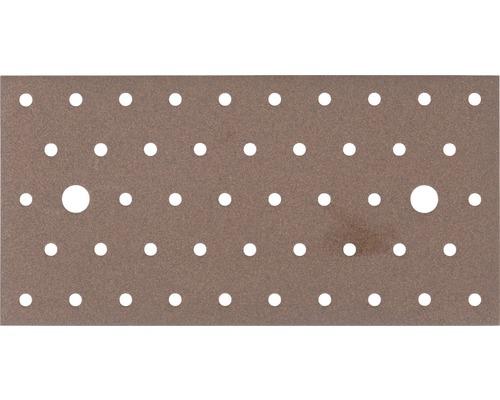 Plaque perforée Duravis 200x100x2 mm brun rouille