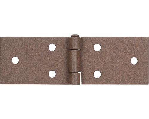 Charnière de table Duravis 32x100x1,5 mm brun rouille