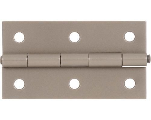 Charnière Duravis 80x40x1,25mm beige perle