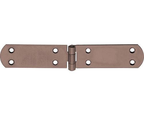 Charnière pour caisse Duravis 156x35x2 mm brun rouille 1 unité