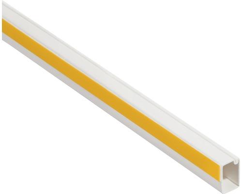 Conduite de câble autocollante ruban adhésif en mousse l12/h7mm blanc pur L 2m