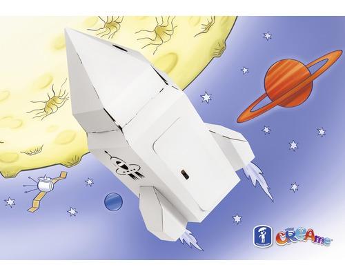 Creame Rakete Aus Pappe Zum Bemalen Und Basteln 47x47x76 Cm