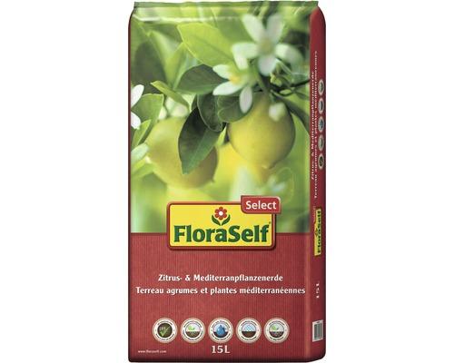 Zitrus- und Mediterranpflanzenerde FloraSelf Select 15 L