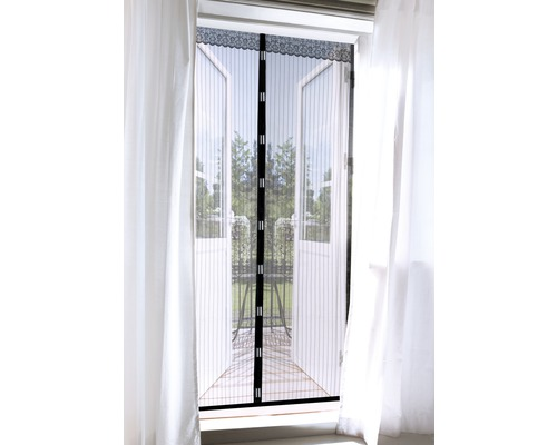 Moustiquaire EASYmaxx Magic clic rideau aimant sans perçage noir 90x210 cm-0