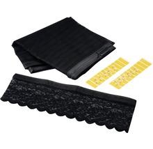 Moustiquaire EASYmaxx Magic clic rideau aimant sans perçage noir 90x210 cm-thumb-1